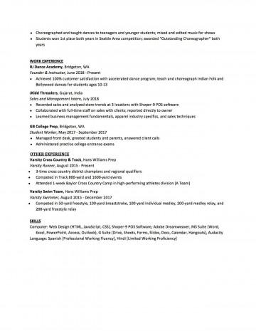 007 Sensational High School Student Resume Template Design  Free Google Doc360