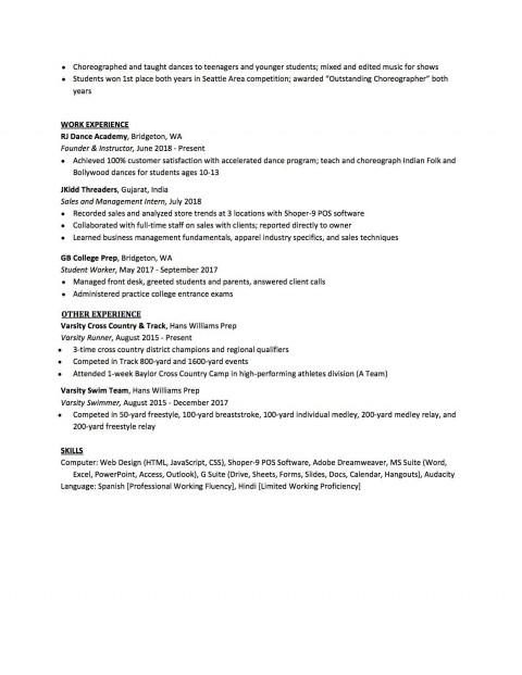 007 Sensational High School Student Resume Template Design  Free Google Doc480