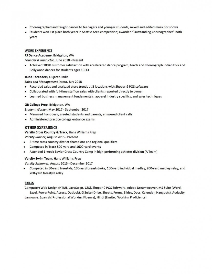 007 Sensational High School Student Resume Template Design  Free Google Doc868