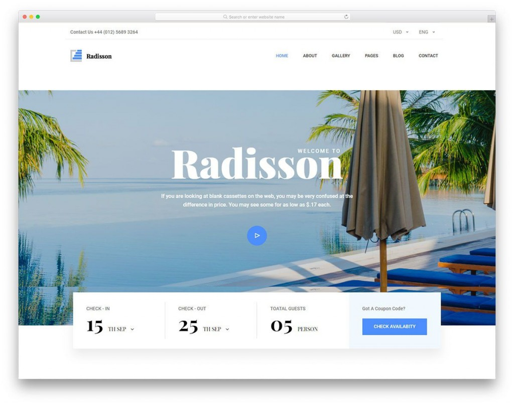 007 Sensational Hotel Website Template Html Free Download Concept  With Cs Responsive Jquery And RestaurantLarge