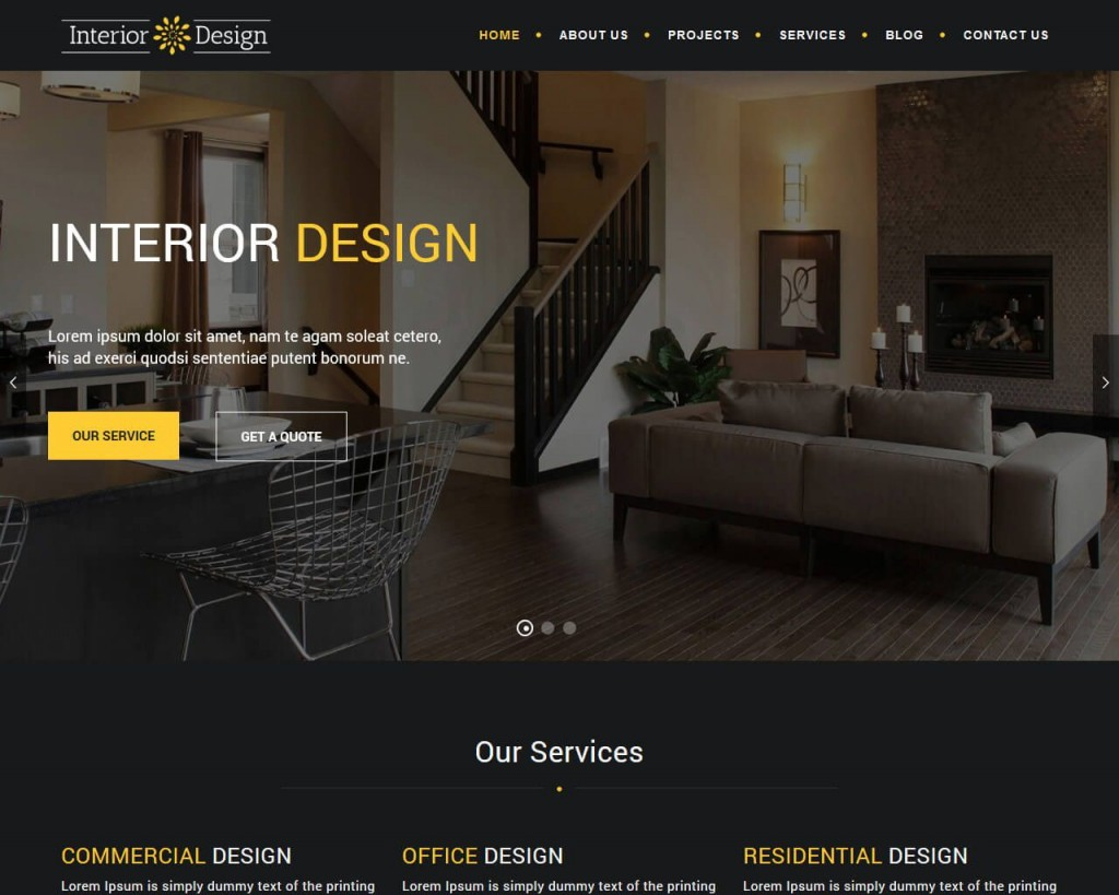 007 Sensational Interior Design Html Template Free Idea  DownloadLarge