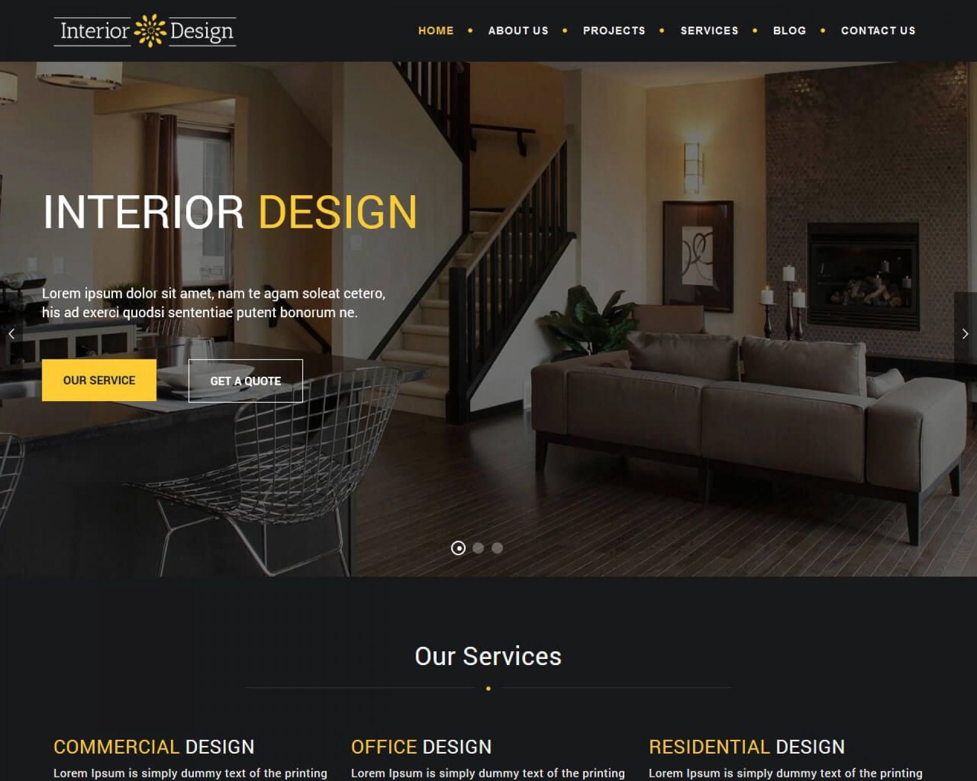 007 Sensational Interior Design Html Template Free Idea  Download1920