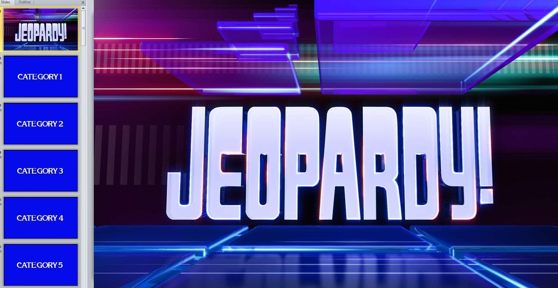 007 Sensational Jeopardy Template Google Slide Example  Slides Board Blank BestFull
