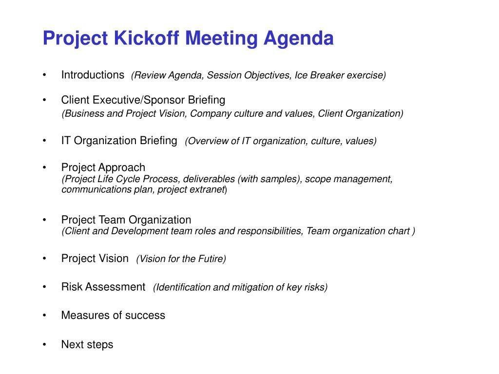 007 Sensational Project Management Kickoff Meeting Template Ppt Design Large
