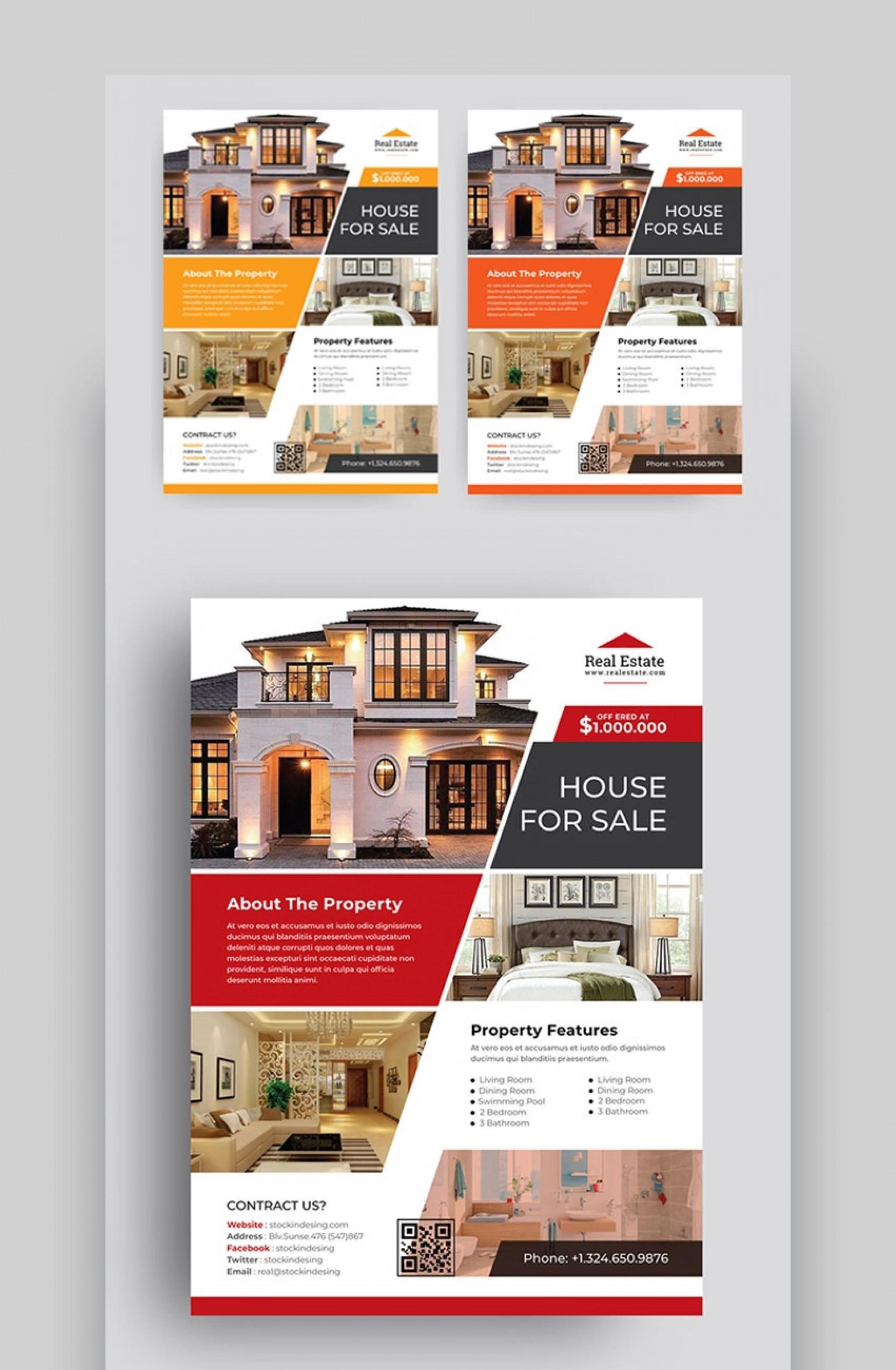 007 Sensational Real Estate Marketing Flyer Template Free Highest Clarity 1920