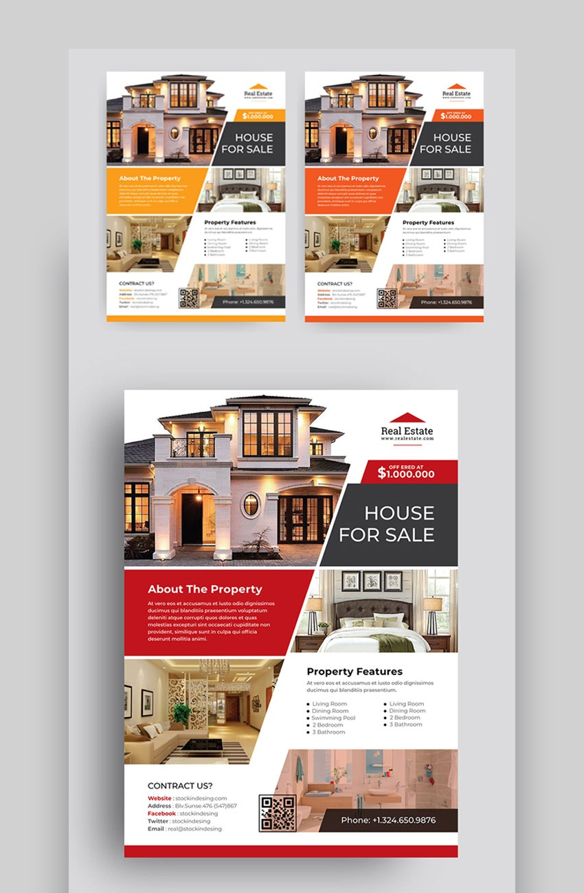 007 Sensational Real Estate Marketing Flyer Template Free Highest Clarity Full