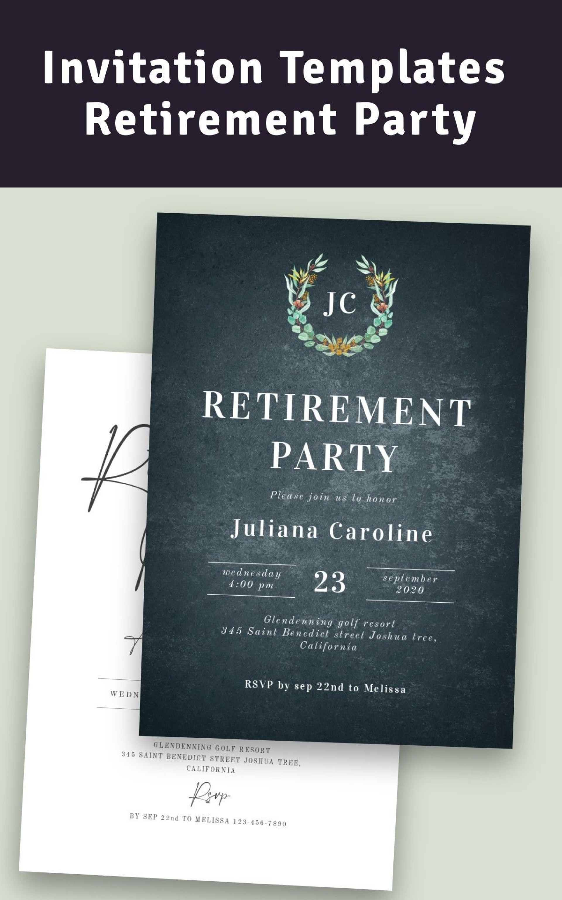 007 Sensational Retirement Party Invitation Template Free Picture  M Word1920