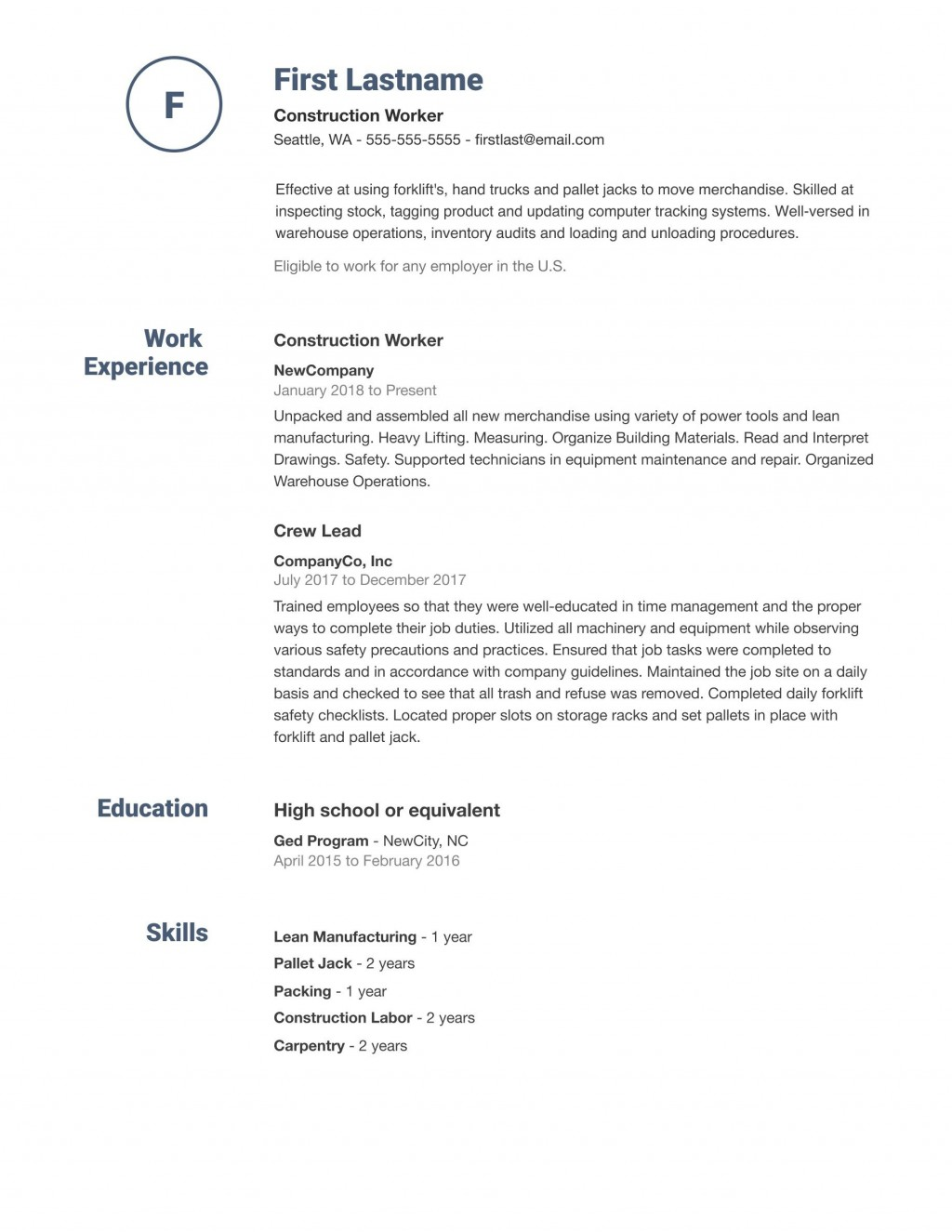 007 Sensational Simple Job Resume Template Picture  Templates Example DownloadLarge