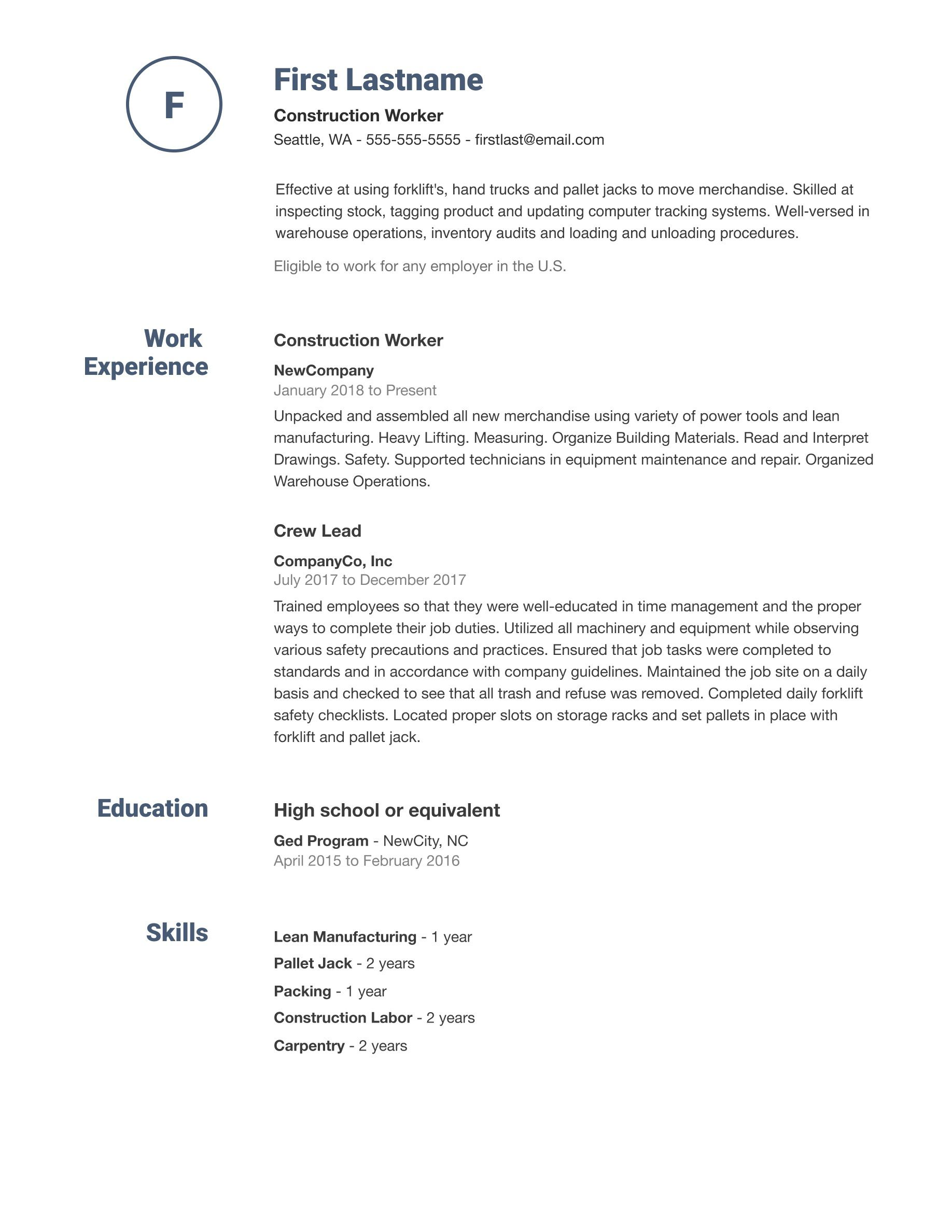 007 Sensational Simple Job Resume Template Picture  Templates Example DownloadFull