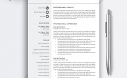 007 Sensational Simple Professional Cv Template Word High Def