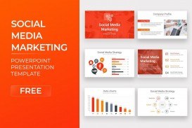 007 Sensational Social Media Marketing Template Picture  Free Wordpres Ppt