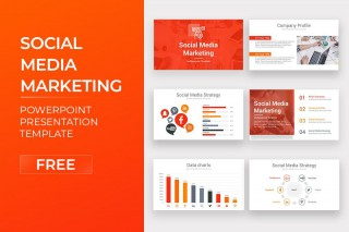 007 Sensational Social Media Marketing Template Picture  Free Wordpres Ppt320