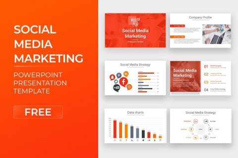007 Sensational Social Media Marketing Template Picture  Free Wordpres Ppt480
