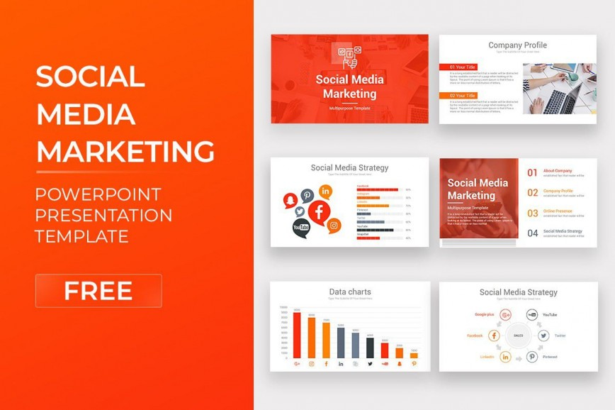 007 Sensational Social Media Marketing Template Picture  Free Wordpres Ppt868