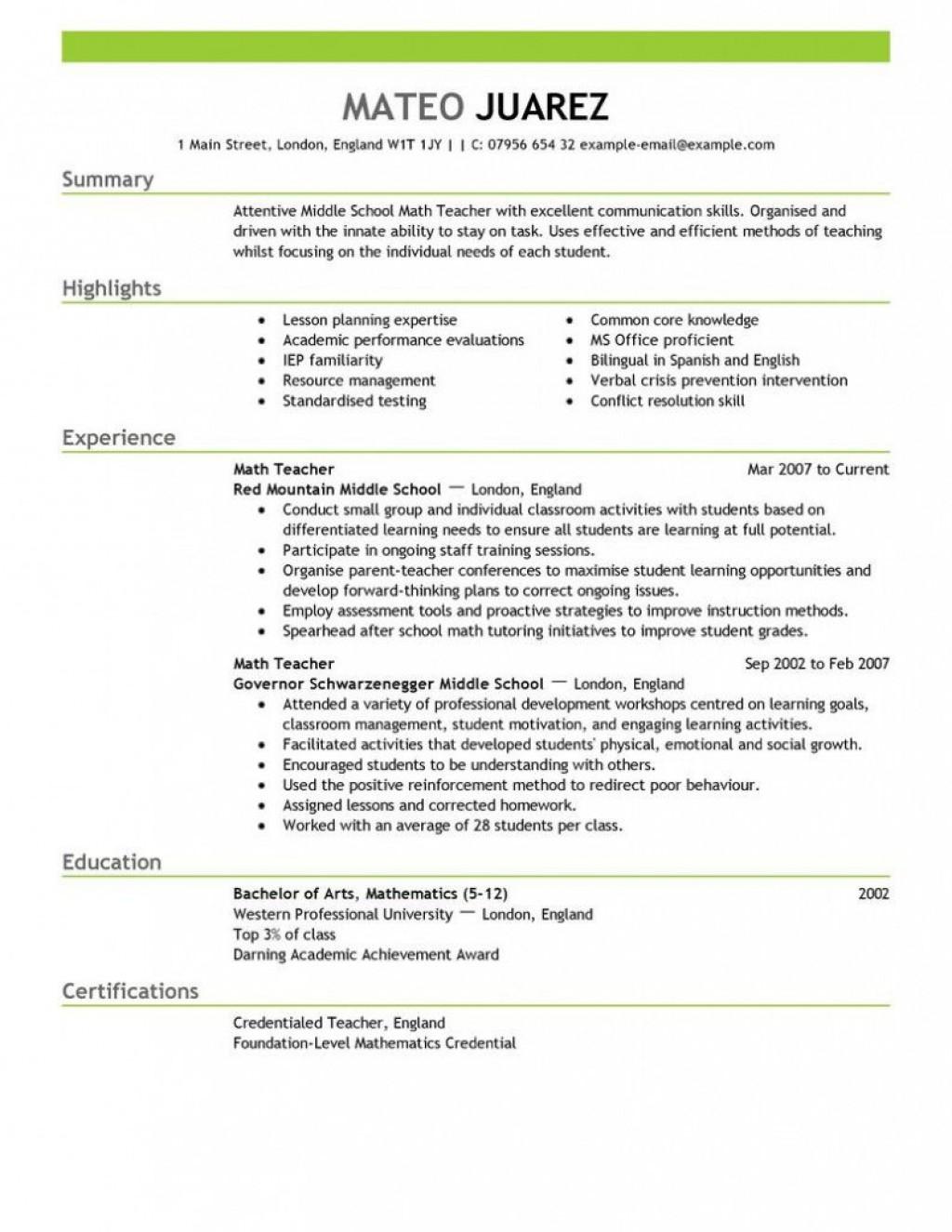 007 Sensational Teacher Resume Template Free Photo  Cv Word Download Editable Format DocLarge