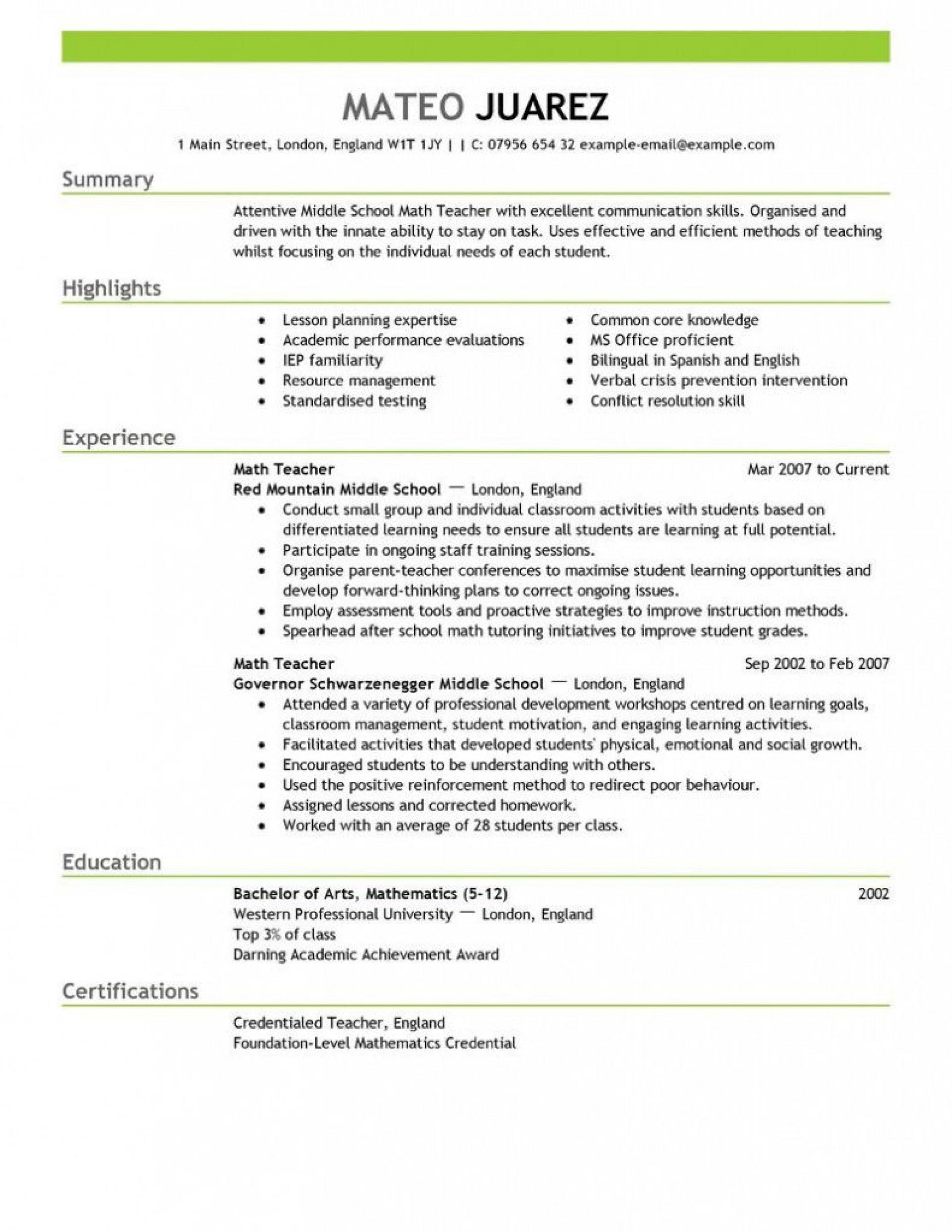 007 Sensational Teacher Resume Template Free Photo  Cv Word Download Editable Format Doc1920