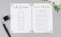 007 Sensational Wedding Order Of Service Template Design  Pdf Publisher Microsoft Word