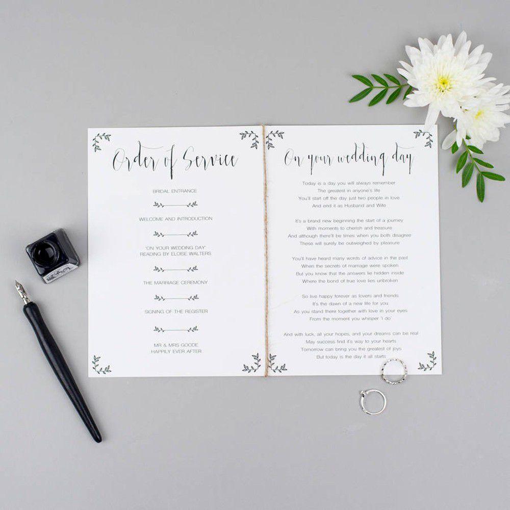 007 Sensational Wedding Order Of Service Template Design  Pdf Publisher Microsoft WordFull