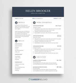 007 Sensational Word Resume Template Free Download Highest Quality  M Creative Curriculum Vitae Cv320
