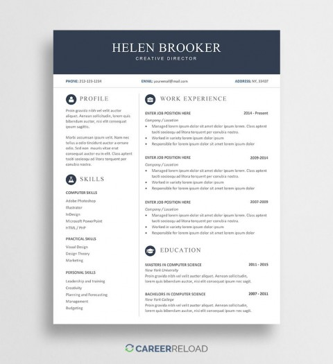 007 Sensational Word Resume Template Free Download Highest Quality  M Creative Curriculum Vitae Cv480