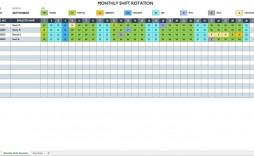 007 Sensational Work Schedule Format In Excel Download High Definition  Template Employee Training Plan Free