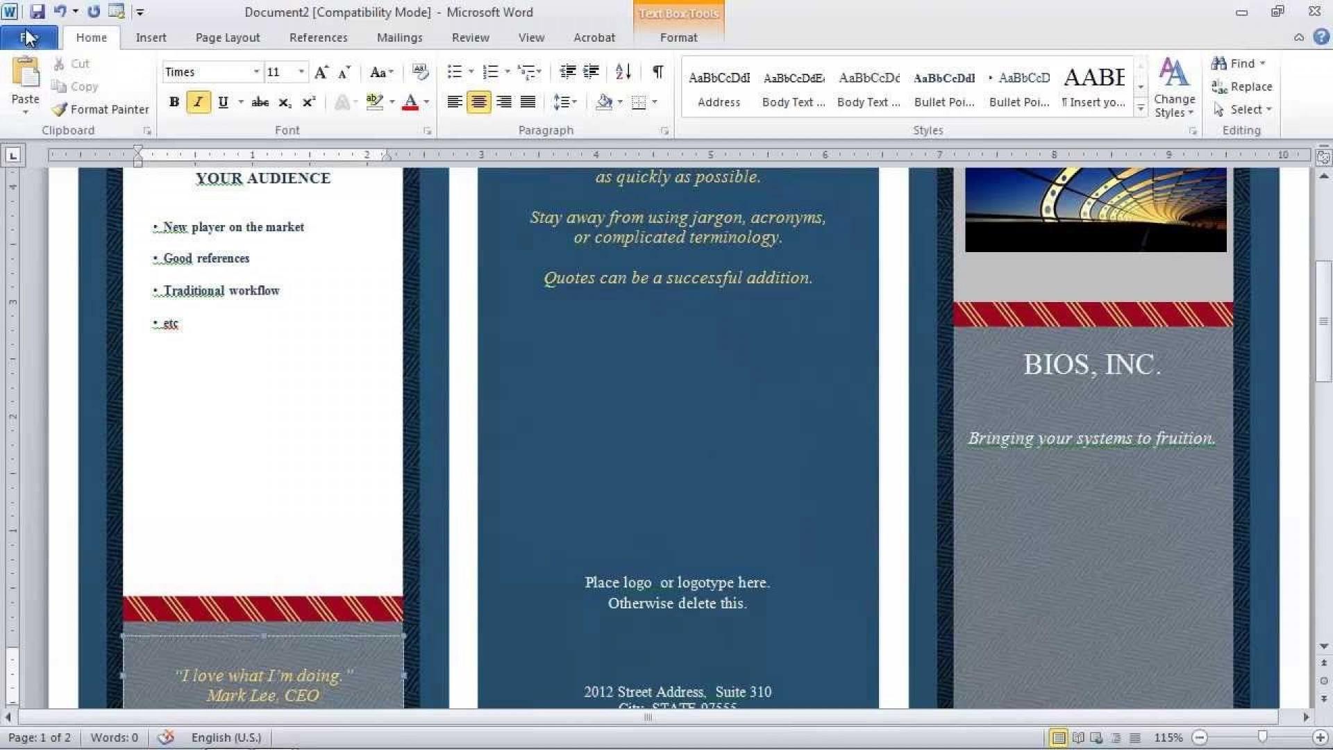 007 Shocking Brochure Template For Word Mac Image  Tri Fold Free1920