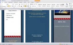 007 Shocking Brochure Template For Word Mac Image  Tri Fold Free