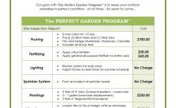 007 Shocking Commercial Lawn Care Bid Template Idea