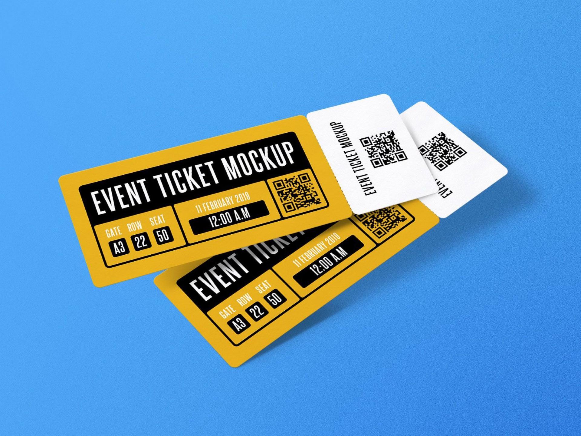 007 Shocking Event Ticket Template Photoshop High Def  Design Psd Free Download1920