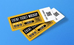 007 Shocking Event Ticket Template Photoshop High Def  Design Psd Free Download