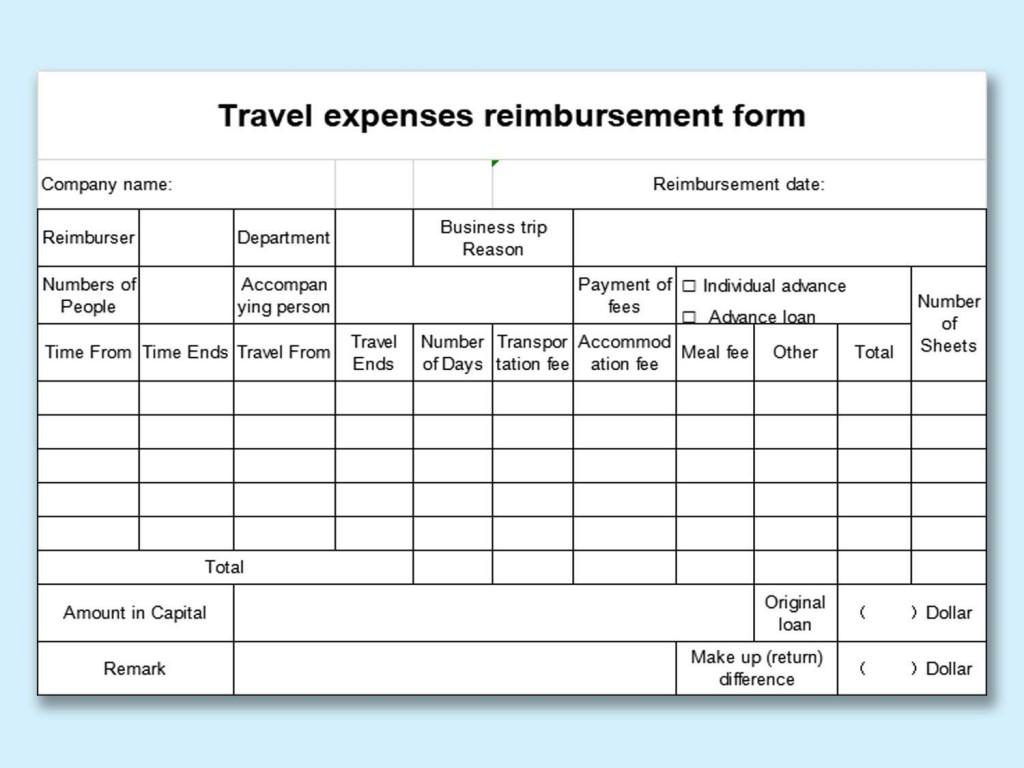 007 Shocking Excel Busines Travel Expense Template Image Large