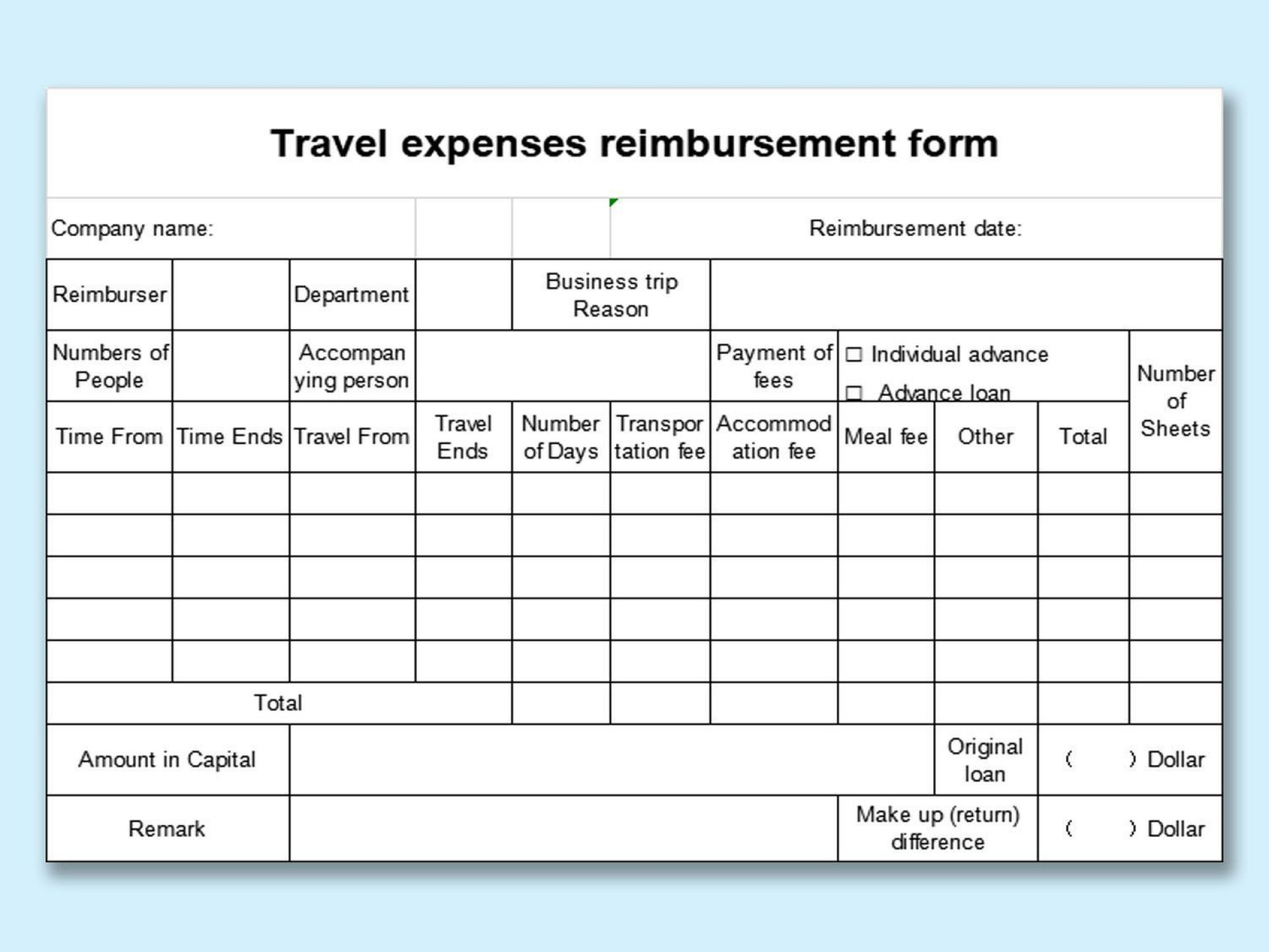 007 Shocking Excel Busines Travel Expense Template Image 1920