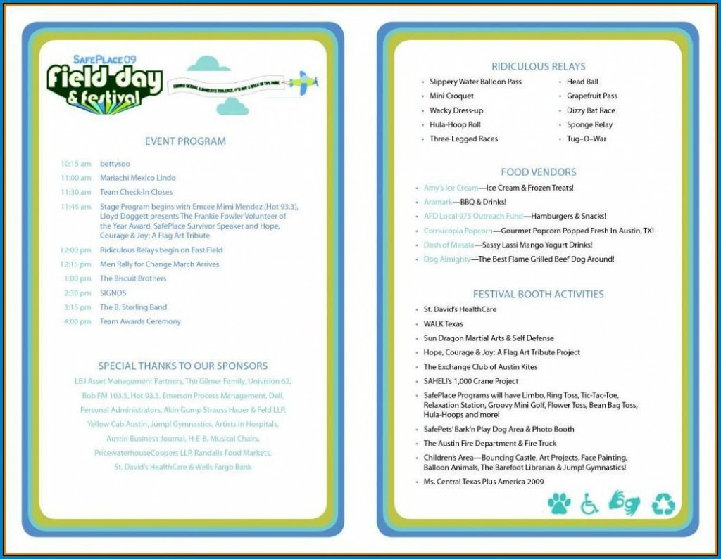 007 Shocking Free Event Program Template Example  Schedule Psd WordLarge