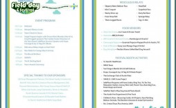 007 Shocking Free Event Program Template Example  Schedule Psd Word