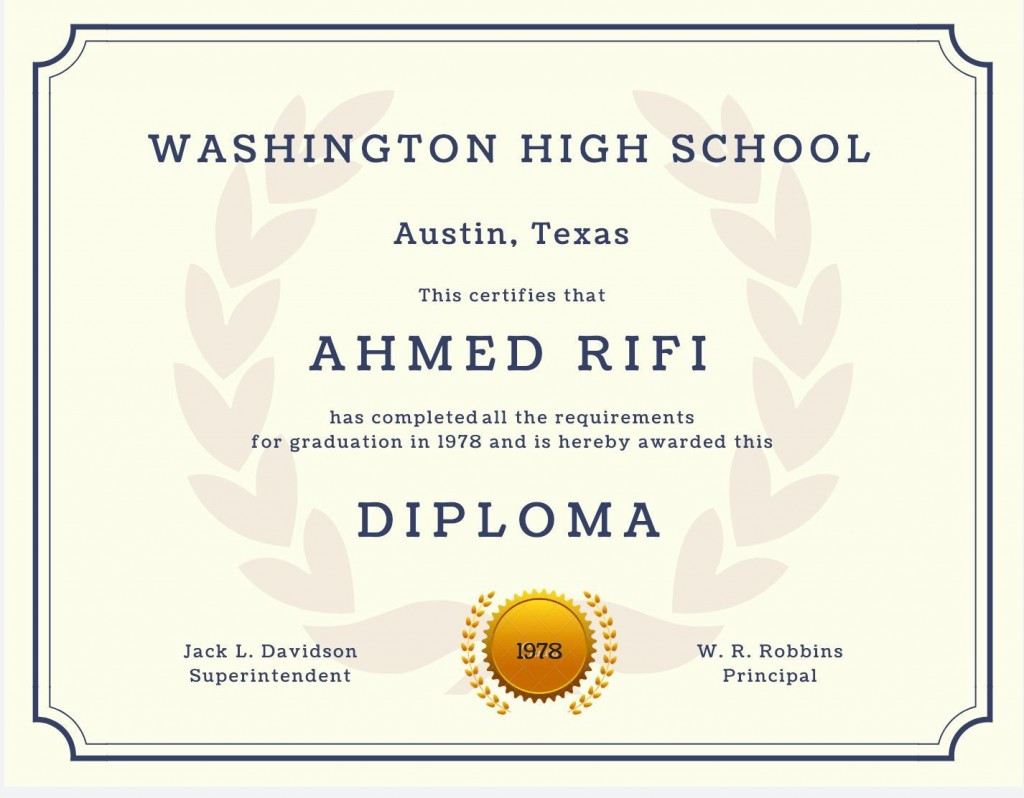 007 Shocking Free Printable High School Diploma Template Inspiration  With SealLarge