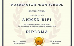 007 Shocking Free Printable High School Diploma Template Inspiration  With Seal