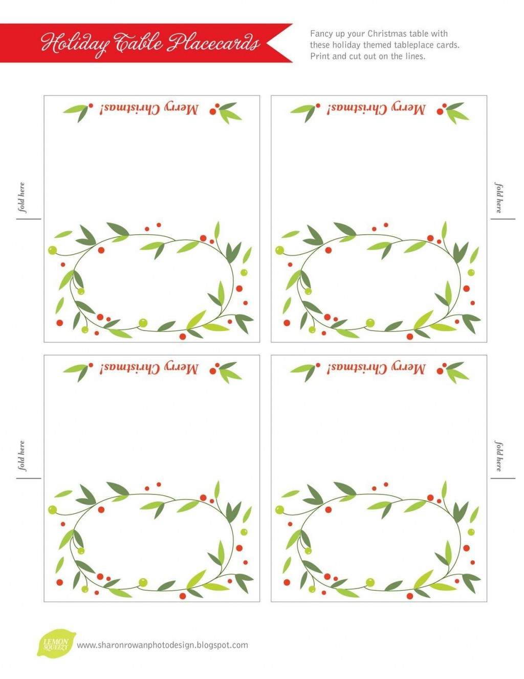 007 Shocking Free Printable Place Card Template Concept  Blank Wedding Christma TableLarge