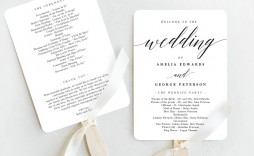 007 Shocking Free Template For Wedding Ceremony Program Picture  Programs