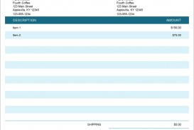 007 Shocking Invoice Excel Example Download Concept