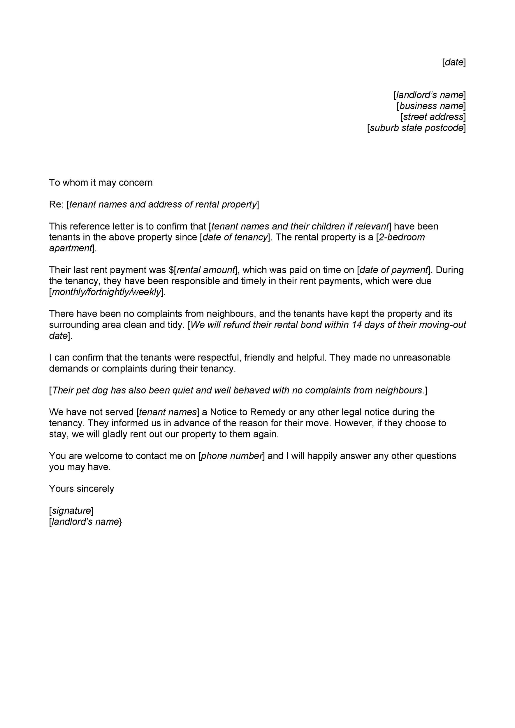 Move Out Letter To Landlord from www.addictionary.org
