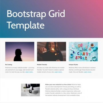 007 Shocking One Page Website Template Free Download Bootstrap Idea 360