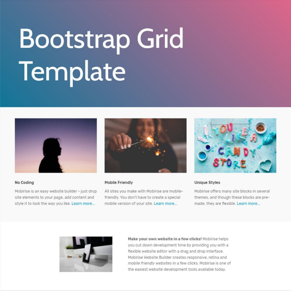 007 Shocking One Page Website Template Free Download Bootstrap Idea 960
