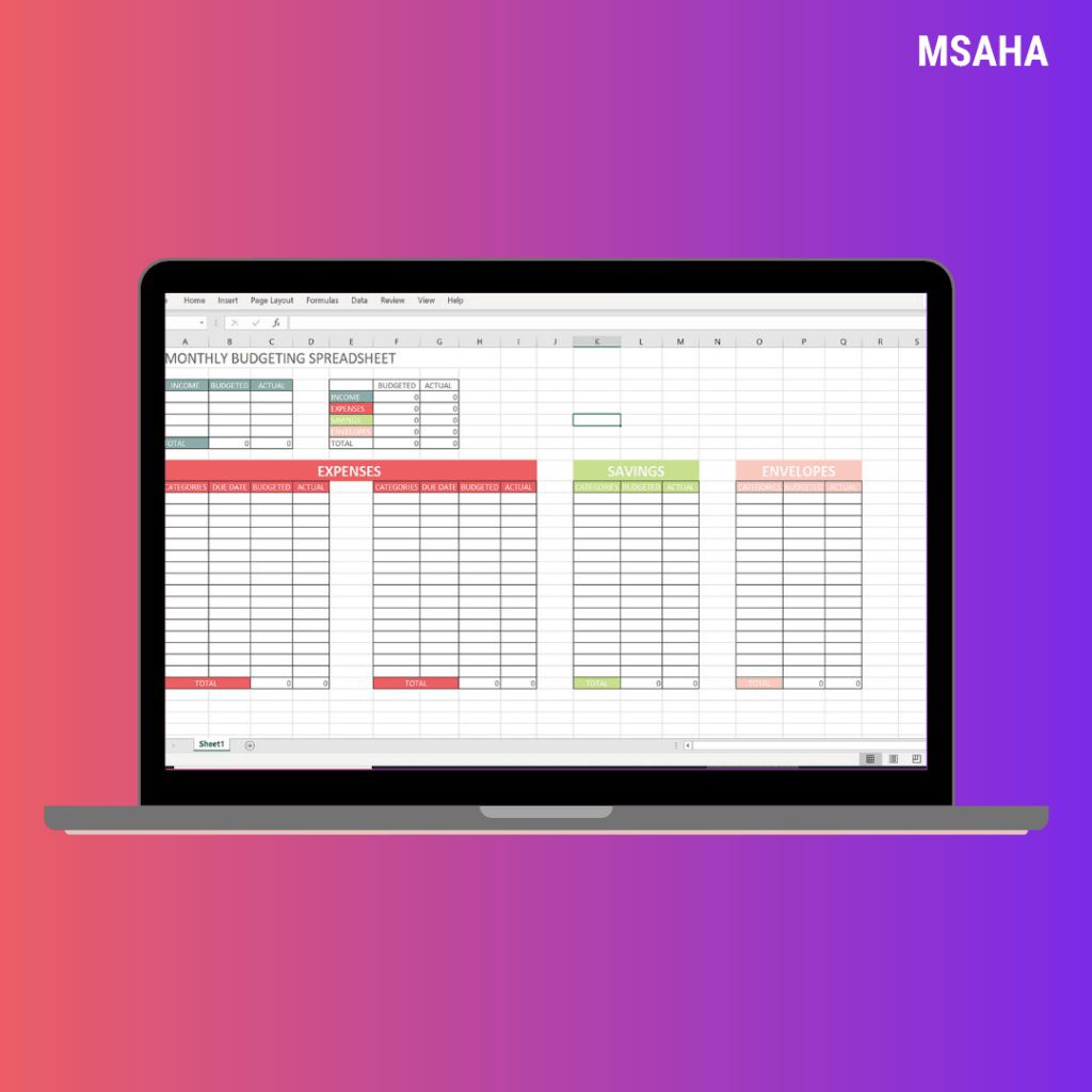 007 Shocking Personal Budgeting Template Excel Example  Finance Free Expense Tracker SpreadsheetFull