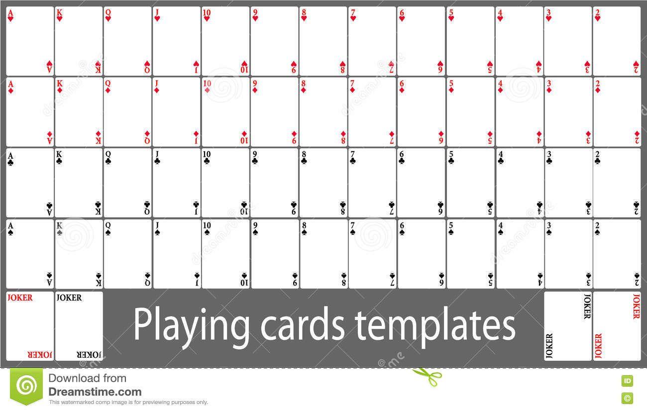 007 Shocking Playing Card Template Free Download Inspiration  BlankFull