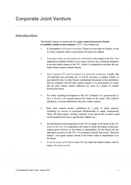 007 Shocking Property Development Joint Venture Agreement Template Uk Image Large