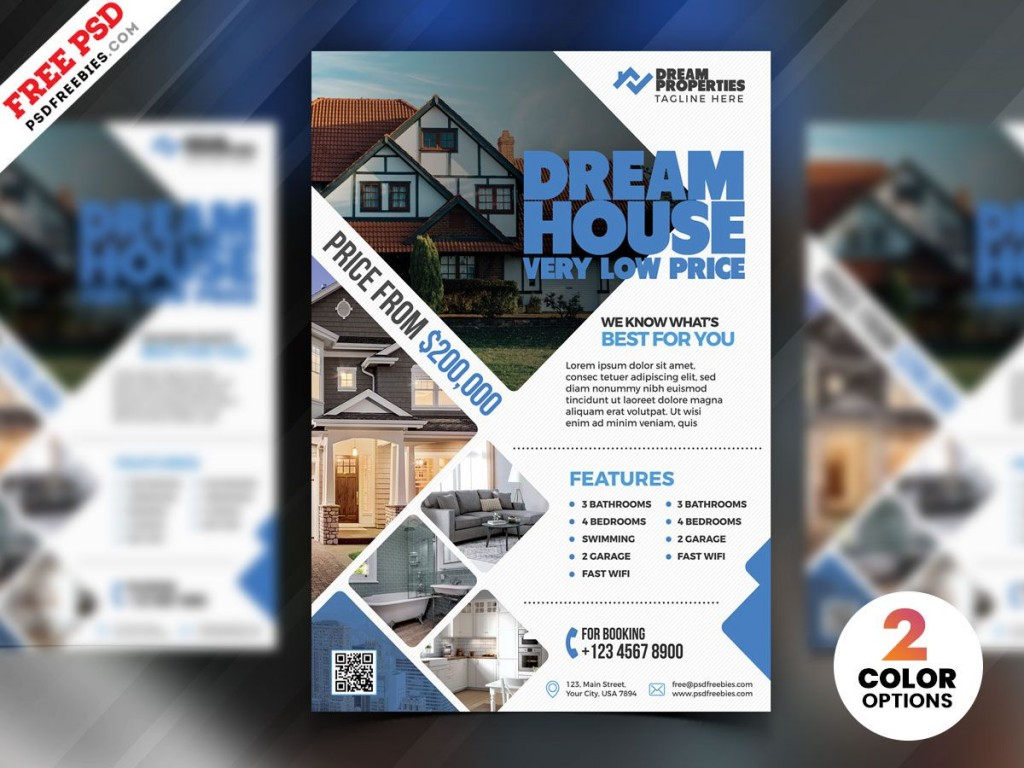 007 Shocking Real Estate Flyer Template Free Inspiration  Publisher Commercial Pdf DownloadLarge
