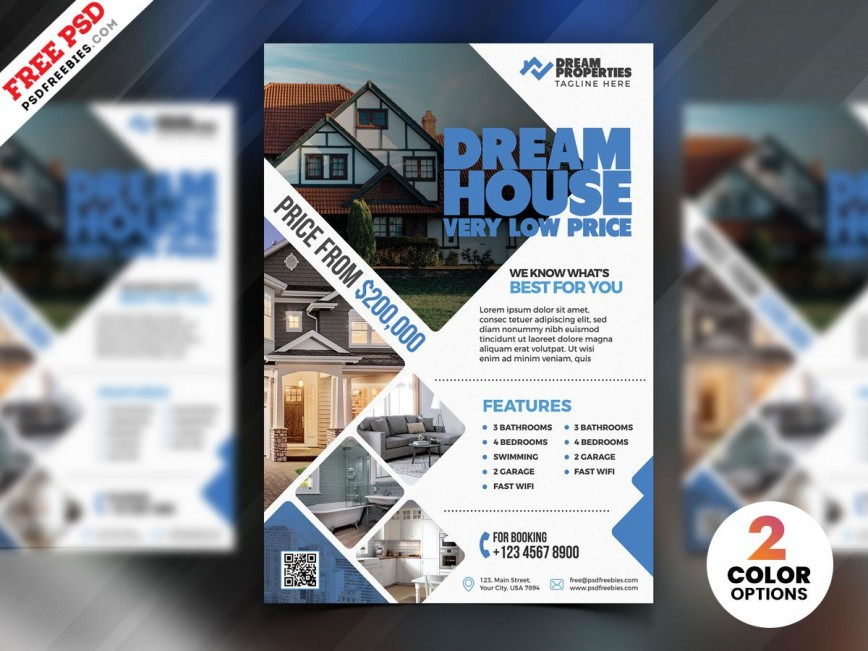 007 Shocking Real Estate Flyer Template Free Inspiration  Publisher Pdf Download Open House
