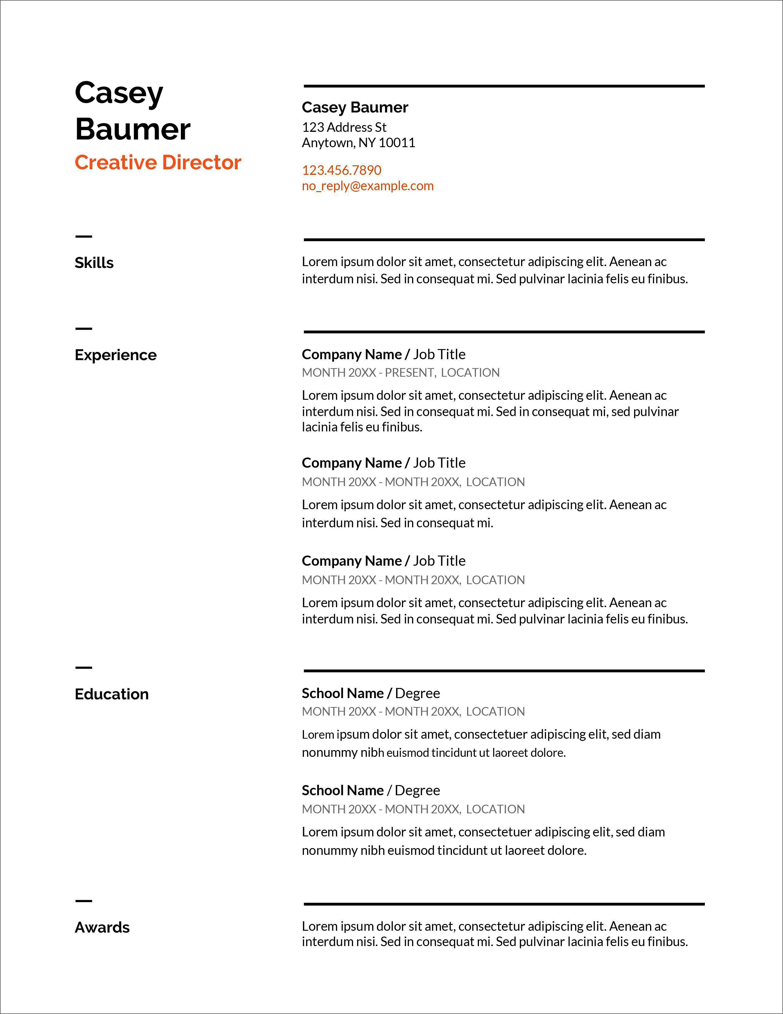 007 Shocking Resume Sample Free Download Doc Concept  For Fresher PdfFull