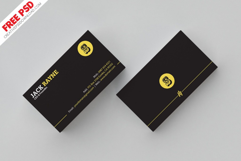 007 Shocking Simple Busines Card Template Psd Highest Quality  Design In Photoshop Minimalist FreeLarge