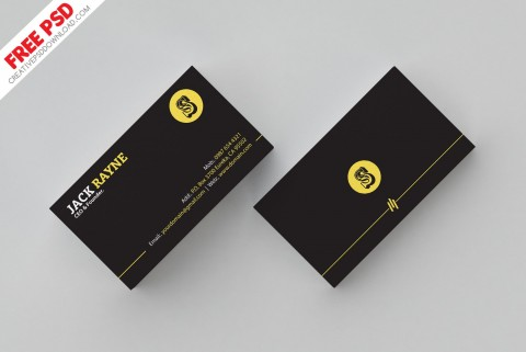 007 Shocking Simple Busines Card Template Psd Highest Quality  Design In Photoshop Minimalist Free480